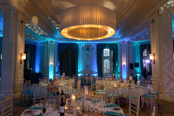 Our uplighting at Manchester's Midland Hotel